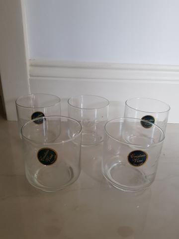 Copos em cristal decorado