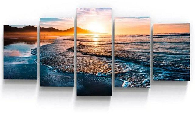 Quadros Decorativos mar pôr do sol praia sala copa empresa