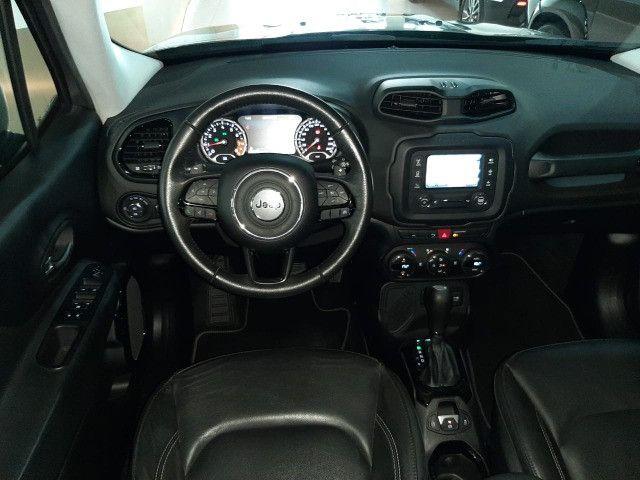 Jeep renegade automática limited 6 marchas banco de couro multimídia único dono 2018 - Foto 2