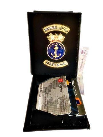 Carteira em couro da Marinha - Foto 4