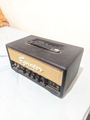 Amplificador Valvulado Egnater Tweaker + caixa 1x12 alto falante Eminence - Foto 3