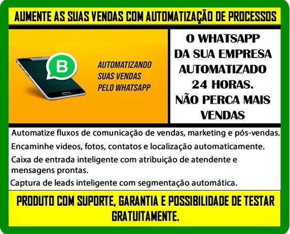 Automatize seu Whatsapp e aumente as suas vendas