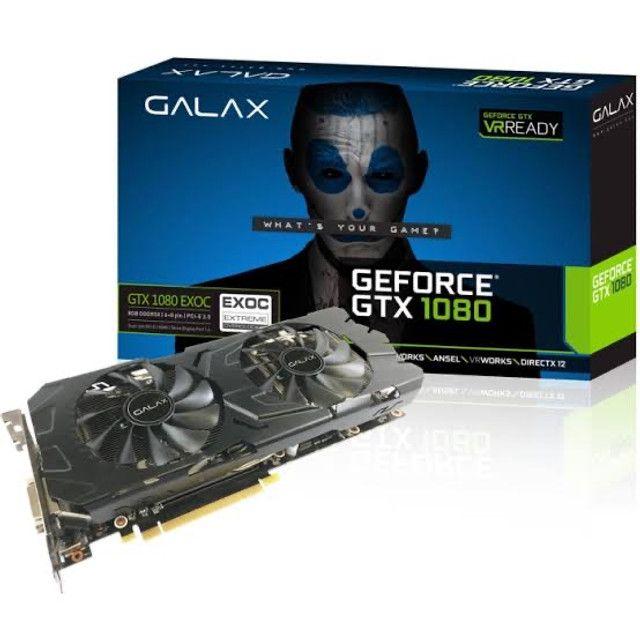 Gtx 1080 exoc GALAX 8gb (estudo trocas)