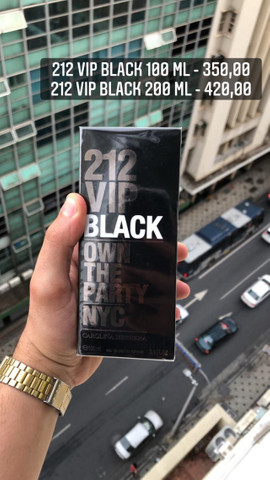 Perfume importado 212 vip black lacrado com selo adipec