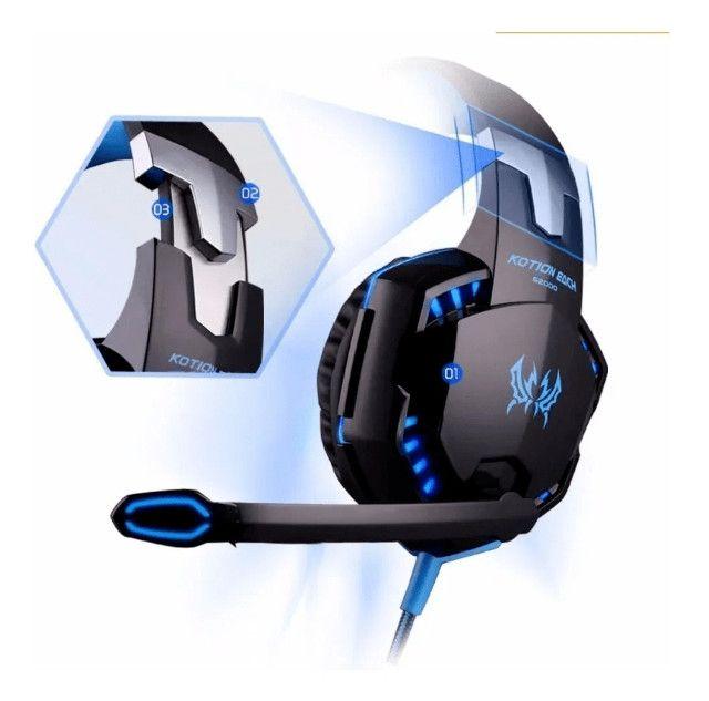 Promoção - Headset Gamer Com Led - Novo - Foto 2