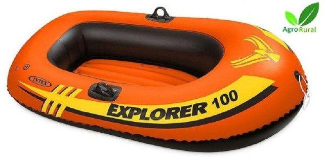 Bote Inflável Explorer 100 Com 2 Camaras De Ar Para Lagoa, Praia E Piscina