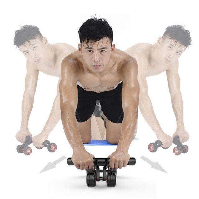 Rolo para exercício abdominal e lombar 4 rodas - Foto 6