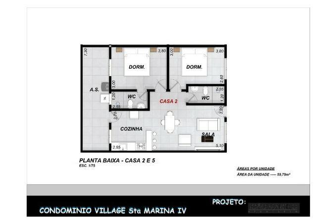 Casa Nova || Pontal Sta Marina Caraguá || 1 Dorm, 1 Suíte || 2 Vagas de Garagem || 195 mil - Foto 13