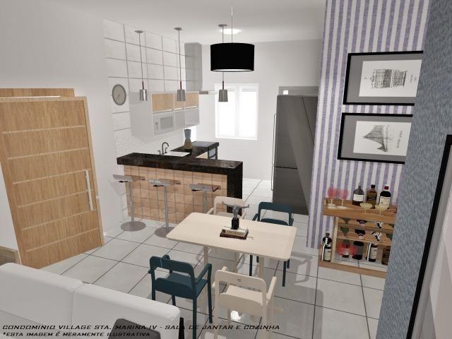 Casa Nova || Pontal Sta Marina Caraguá || 1 Dorm, 1 Suíte || 2 Vagas de Garagem || 195 mil - Foto 9
