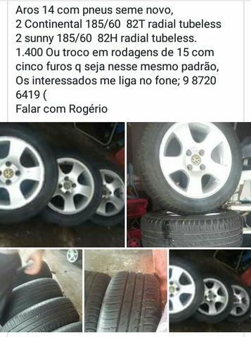 Aros com pneus 14