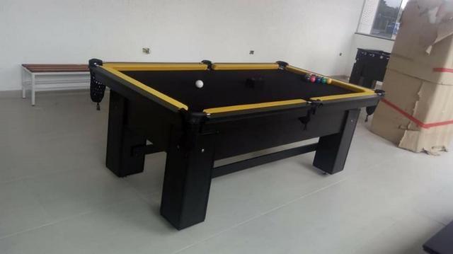 Mesa de Bilhar de Redes Tecido Preto Tx Cor Preta Modelo HRT7121