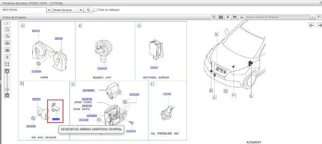 Sensor do airbag dianteiro central - Kicks 2016 - Foto 2