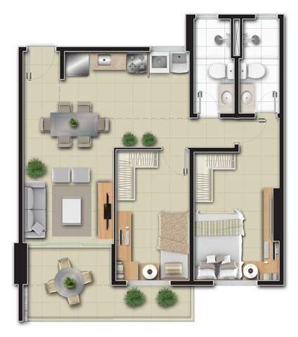 APT 269, Condomínio Francisco Philomeno, Apartamento novo no 12º andar - Foto 20