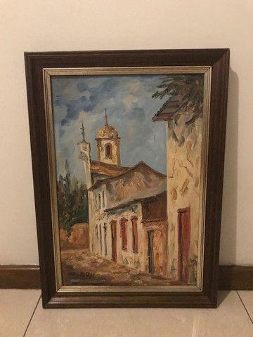 Quadro Pintura a Óleo (Rua de Ouro Preto/MG) - Foto 2