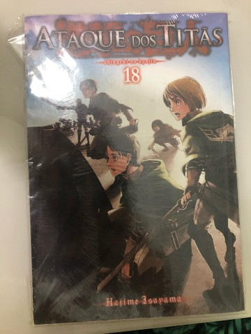 Ataque dos titãs volume 18 lacrado mangá (Shingeki no kyojin, attack on titan)
