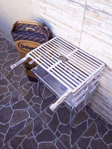 ( Nova) Churrasqueira Grande Desmontável Alumínio + Grelha