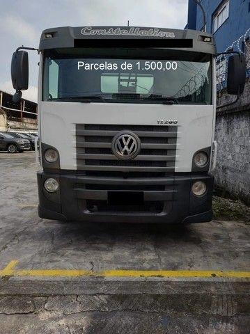 VW Constellation 17.280 2017 Guincho Plataforma, Entrada mais Parcelas com Serviço. - Foto 6