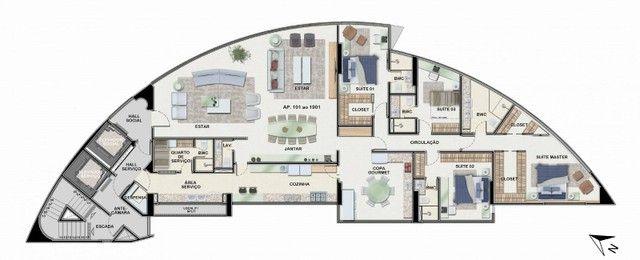 Apartamento para venda possui 269 metros quadrados com 4 suítes no Pina - Recife - PE - Foto 7