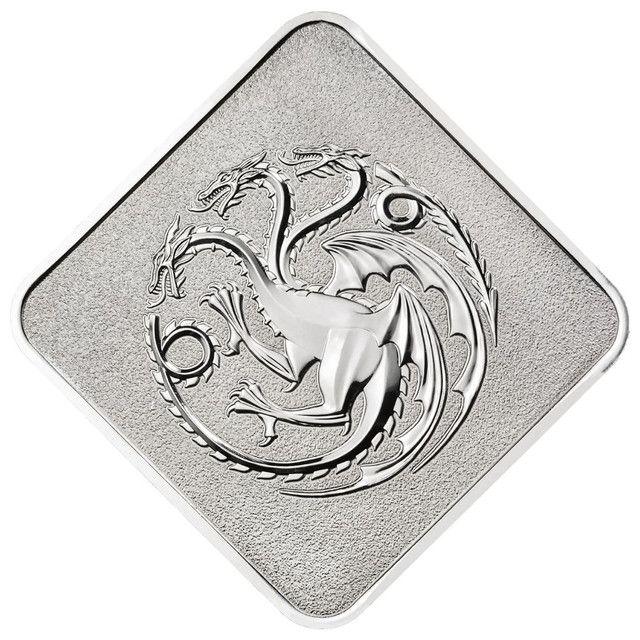 Medalha Game Of Thrones House Targaryen Edição Limitada - Foto 2