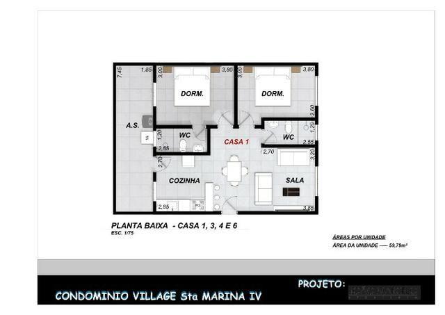 Casa Nova || Pontal Sta Marina Caraguá || 1 Dorm, 1 Suíte || 2 Vagas de Garagem || 195 mil - Foto 15