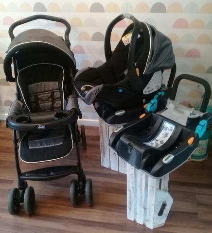 Chicco Carrinho de Bebê Duo Today + Bebê Conforto e Duas Bases