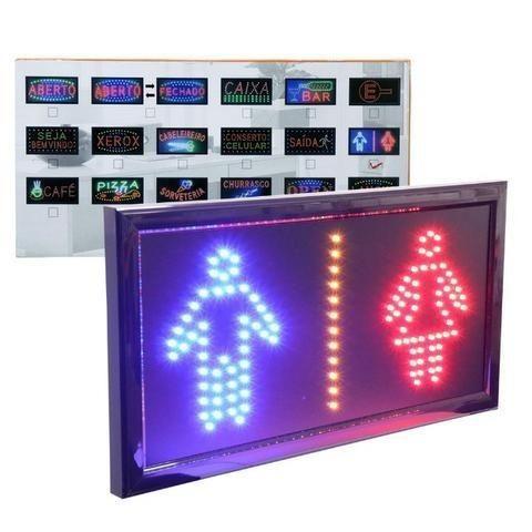 Letreiro Luminoso Painel Placa Pisca Led Luz Escrito Banheiro Vestiário 110v - Foto 5
