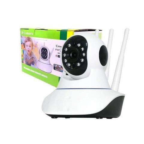 Câmera Ip 3 Antenas Wireless Sem Fio Onvif Wifi Hd Sensor Noturna Rotação App Smartphone - Foto 4