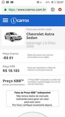 Astra sedan advantage 2.0 flex 2006