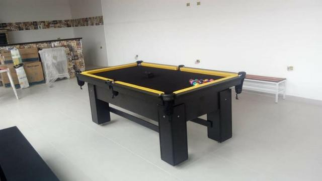 Mesa de Bilhar de Redes Tecido Preto Tx Cor Preta Modelo HRT7121 - Foto 2