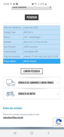 VW - Bora 2.0 8v 2020Vist AirBag/ABS Completo - RARIDADE - Foto 20