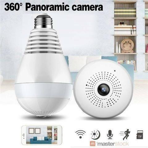Lâmpada Câmera Espiã Wifi Segurança Ip (entrega via motoboy)