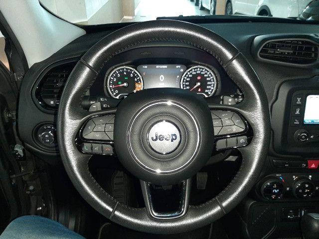 Jeep renegade automática limited 6 marchas banco de couro multimídia único dono 2018 - Foto 16