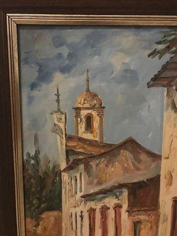 Quadro Pintura a Óleo (Rua de Ouro Preto/MG) - Foto 3