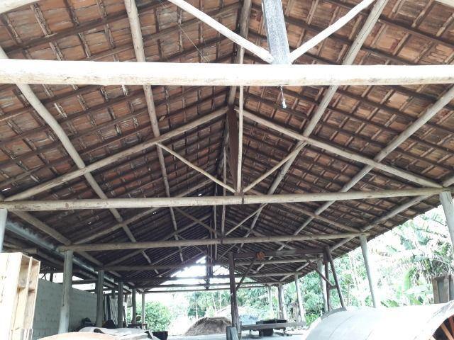 Cobertura de eucalipto e telha francesa para área rural - Foto 3