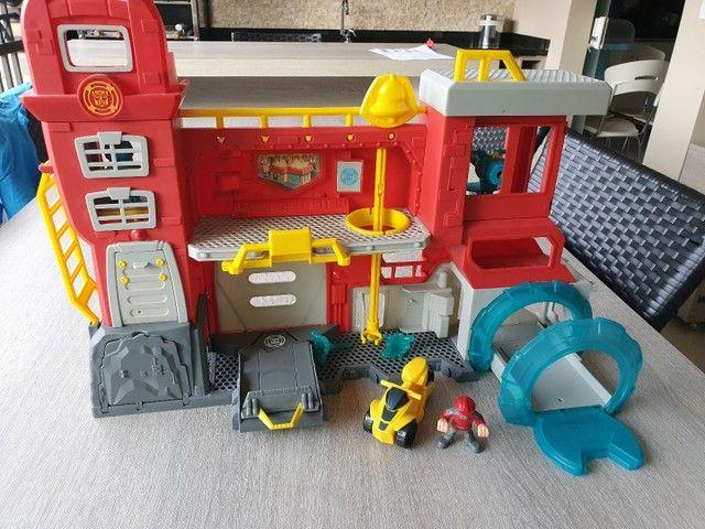 Conjunto Transformers Rescue Bots Quartel Dos Bots - Foto 2
