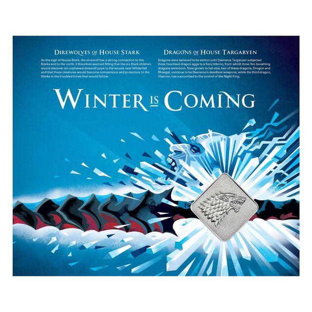 Medalha Game Of Thrones House Stark Edição Limitada - Foto 2