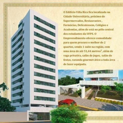 JS- Lindo apartamento na Polidoro/Várzea - 02 quartos, 50m² - Edf. Villa Rica - Foto 5