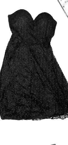 Vestido preto Tomara que cai (P)otimos para ensaios de formaturas e festa especiais. - Foto 2