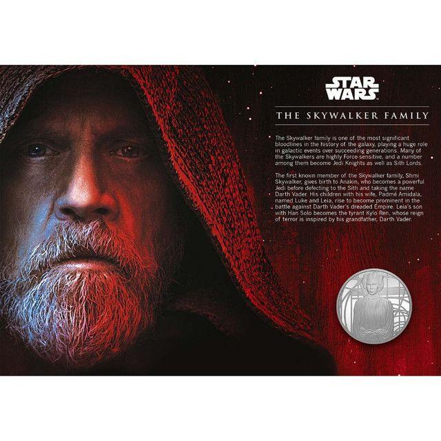 Medalha Star Wars Skywalker Family Edição Limitada-uk - Foto 2