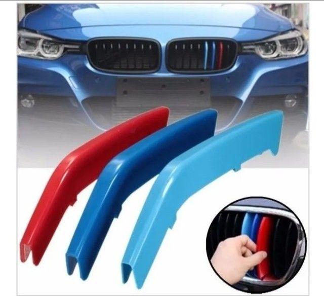 Aplique M3 grade BMW MOTORSPORT tricolor  - Foto 2