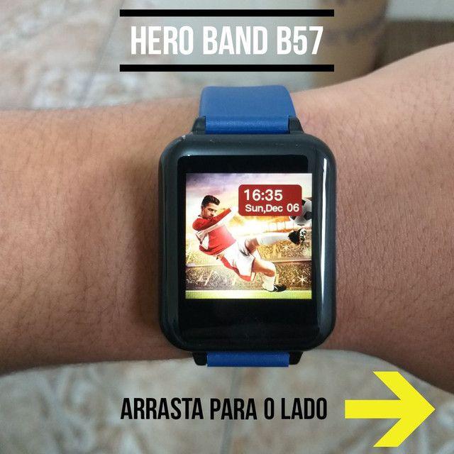 Relógio Smart Hero Band B57 aprova D'água - Foto 4