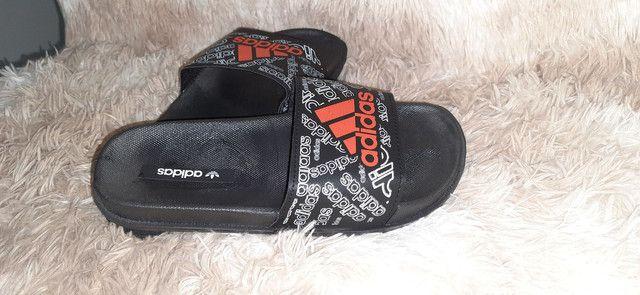 Chinelo slide Adidas n° 36 37 38 39 40 41 42 43 - Foto 4