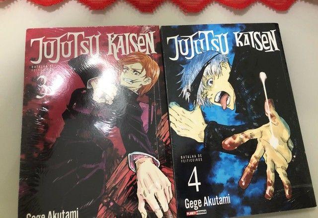 Mangá Jujutsu Kaisen volumes 3 e 4 novos e lacrados - Foto 2
