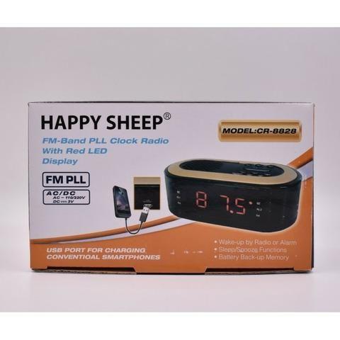 007b546e71b Radio relógio de mesa despertador cabeceira Fm Led + Porta Usb para  carregamento Celular