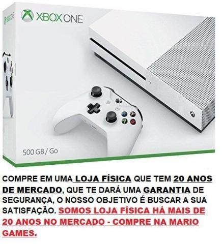 Xbox One S 500GB 4K Branco - Somos Loja Física e Temos credibilidade no mercado