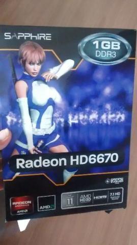 Placa de Vídeo Radeon HD 6670 1GB DDR3 SAPPHIRE