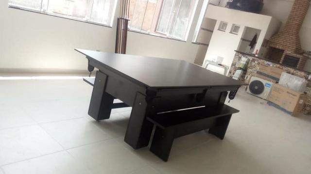 Mesa de Bilhar de Redes Tecido Preto Tx Cor Preta Modelo HRT7121 - Foto 5