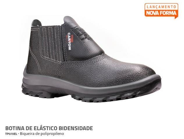 0ab0b115ea534 Botina Bota Calçado Segurança EPI Eletricista Bidensidade - Roupas e ...