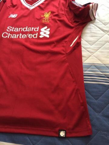 Camisa do Liverpool - Original da NB - Tam GG - Nova na etiqueta. Jogador  Salah 61987b1a0bd5b