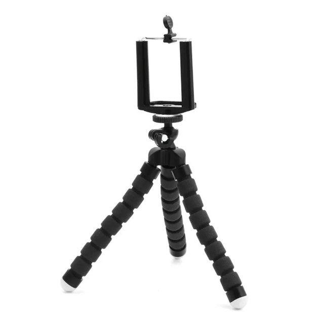 Tripé Flexível Articulado Suporte Celular Selfie Câmera - Foto 3